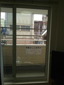 0108施工前,ガラス修理,大阪市平野区