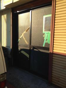 0122施工前,ガラス修理,大阪市平野区