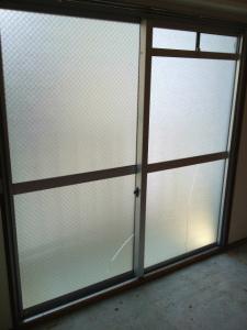 0128施工前,ガラス交換,修理,浪速区