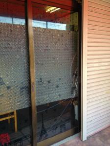 0128施工前2,ガラス修理,堺市中区