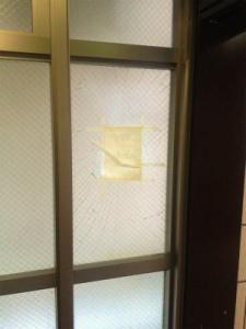 0130施工前,ガラス交換,修理,淀川区