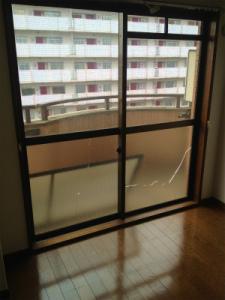0203施工前,ガラス修理,大阪市天王寺区