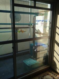 0129施工前1,ガラス修理,八尾市