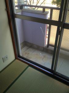 0201施工前,ガラス修理,大阪市鶴見区