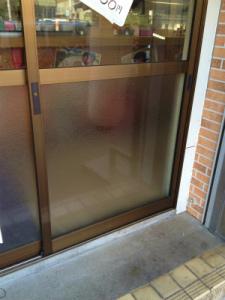 0213施工後,ガラス修理,大阪市西成区