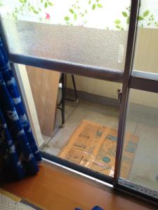 0201施工前,ガラス交換,修理,守口市