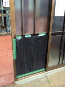 0208施工前,ガラス交換,修理,大阪市北区