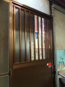 0201施工前,ガラス交換,修理,吹田市