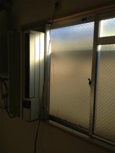0129施工前,ガラス修理,大阪市住之江区