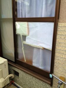 0212施工前,ガラス修理,大阪市平野区