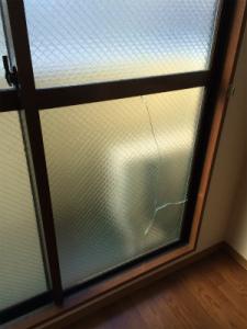 0212施工前,ガラス修理,高槻市