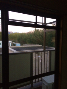 0303施工前,ガラス修理,貝塚市