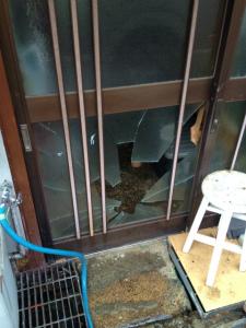 0305施工前,ガラス交換,修理,大阪市大正区