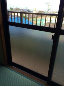 0217施工前,ガラス修理,岸和田市