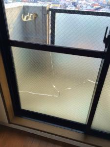 0228施工前,ガラス修理,大阪市福島区