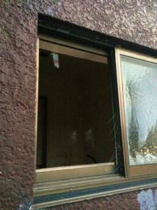 0228施工前,ガラス修理,泉南郡忠岡町