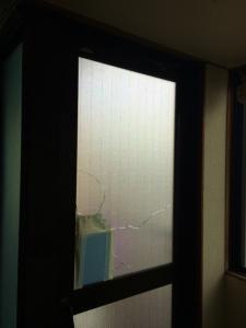 0308施工前2,ガラス修理,大阪市西成区