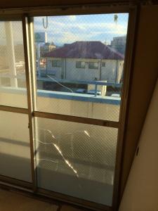 0221施工前,ガラス修理,堺市西区