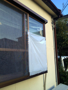 0303施工前,ガラス交換,修理,堺市南区