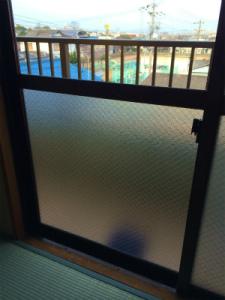 0217施工後,ガラス修理,岸和田市