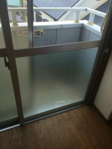 0222施工前,ガラス修理,羽曳野市