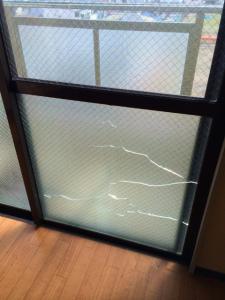 0228施工前,ガラス修理,門真市